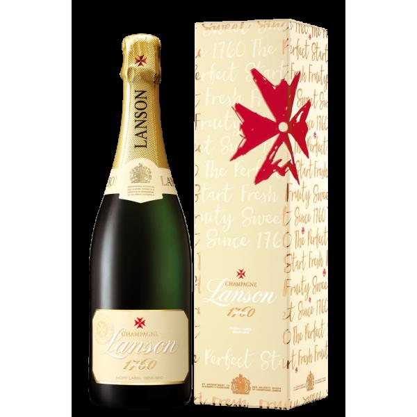 Шампанское Lanson Ivory Label Demi Sec gift box 0.75 л