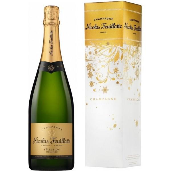 Игристое вино Nicolas Feuillatte Selection Demi-Sec gift box 0.75 л