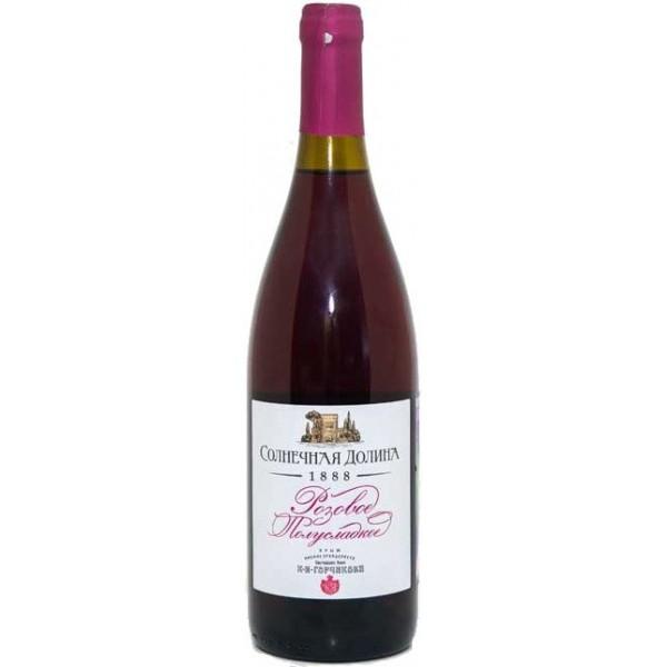 Вино Solnechnaya Dolina Rose semi sweet