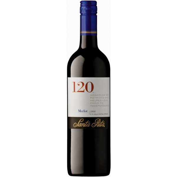 Вино Merlot Valle Central 120 Santa Rita 2008 0.75 л