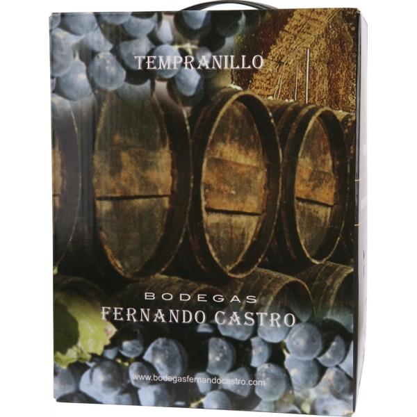 Вино Tempranillo BiB, Bodegas Fernando Castro 3 л