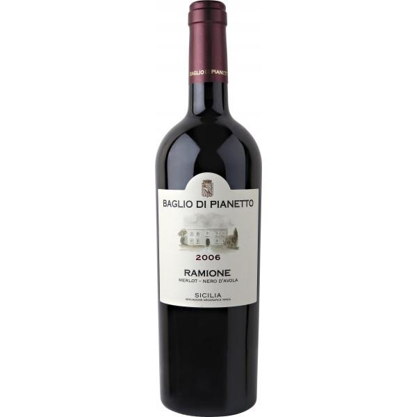 Вино Ramione Merlot Nero d`Avola Baglio di Pianetto'07 2007 0.75 л
