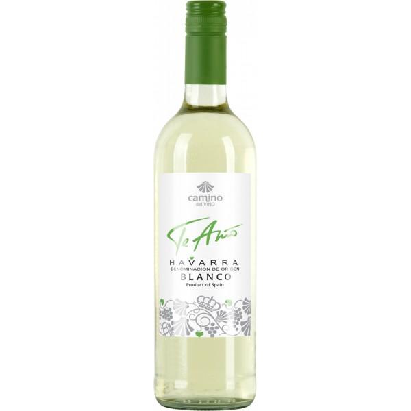 Вино Te amo Camino del vino Blanco Navarra 0.75 л