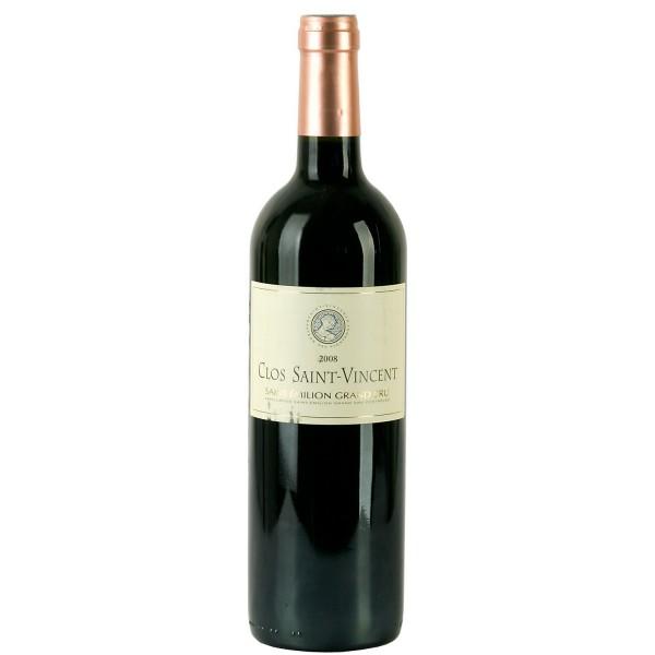 Вино Clos Saint Vincent Saint Emilion Grand Cru Кло 2008 0.75 л