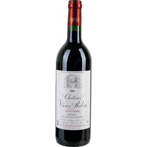 Вино Chateau Vieux Robin Medoc Cru Bourgeois`01 2001 0.75 л