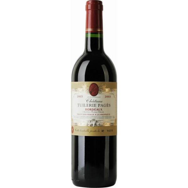 Вино Chateau Tuilerie Pages Bordeaux 2011 0.75 л