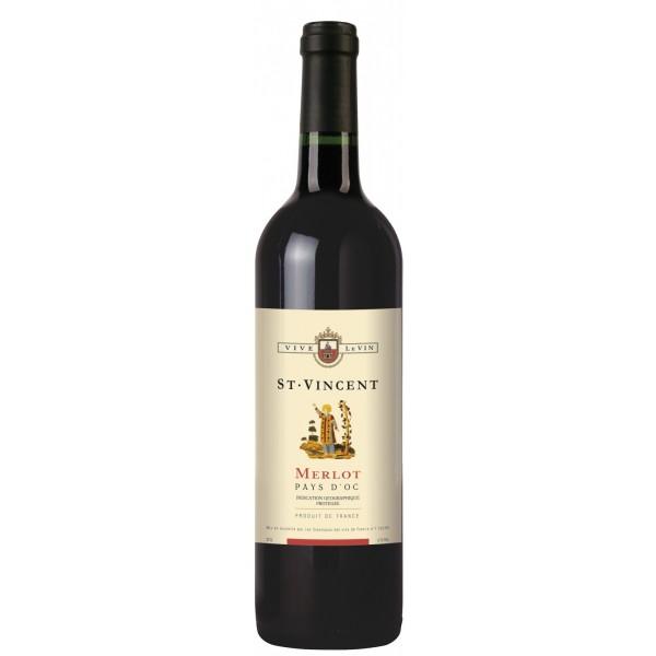 Вино Merlot Pays d`Oc Saint Vincent 0.75 л