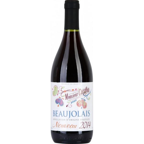 Вино Beaujolais Nouveau Monsieur Carafon 0.75 л