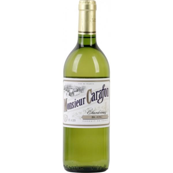 Вино Chardonnay Monsieur Carafon 0.75 л