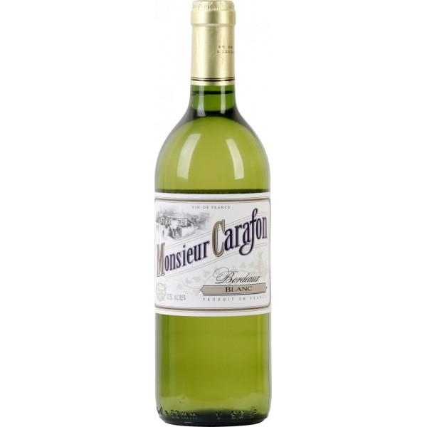 Вино Bordeaux Blanc Monsieur Carafon 0.75 л