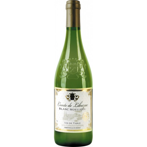 Вино Comte de Libuzac Blanc Moelleux 0.75 л