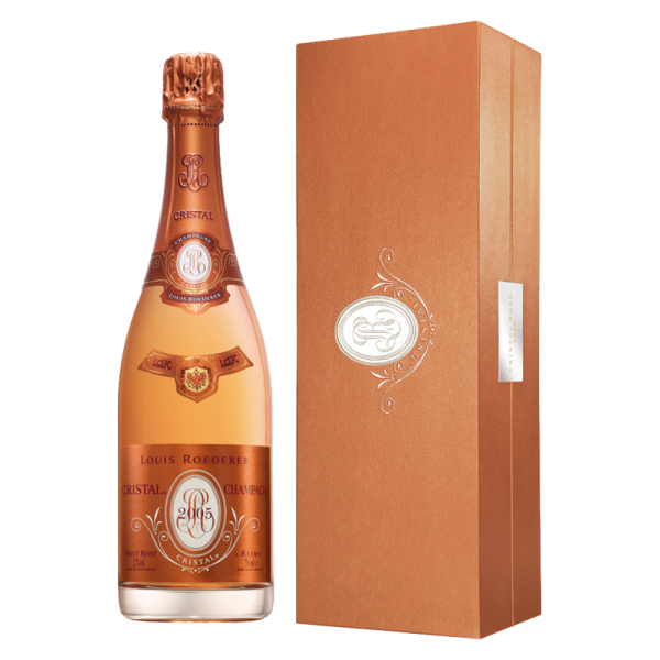 Шампанское Cristal Rose AOC in gift box 2009 0.75 л