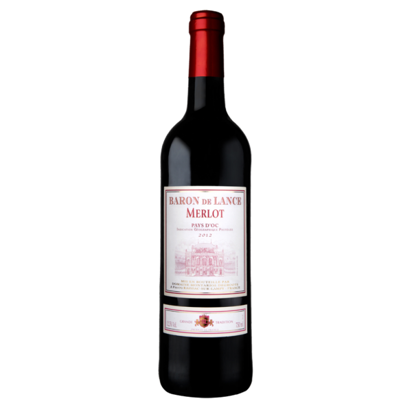 Вино Domaines Montariol Degroote Merlot Baron de Lance 2012 0.75 л