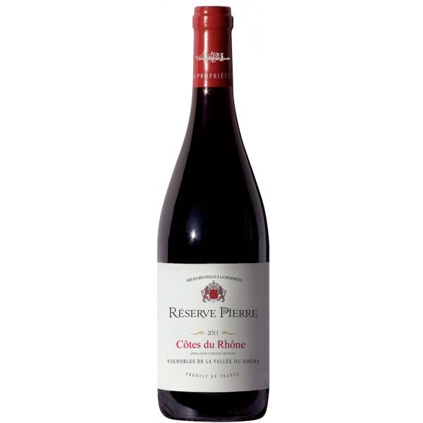 Вино Cotes du Rhone Rouge Reserve de Piere 2012 0.75 л