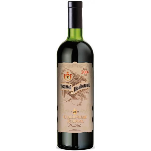 Вино Черный Полковник Марочное Крепленое Красное Сладкое 0.25 л